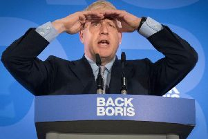 Boris Johnson has been compared to Adolf Hitler