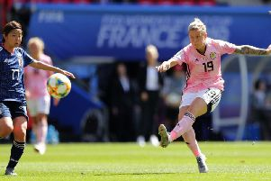 Scotland fell to a 2-1 defeat to Japan despite Lana Clelland's goal.