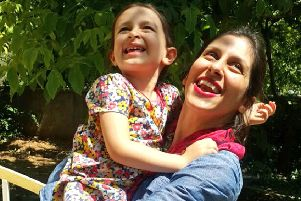 Nazanin with Gabriella, who is not allowed to leave Iran