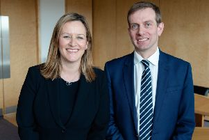 Turcan Connell managing partner Gillian Crandles alongside incoming chairman Alexander Garden. Picture: Julie Broadfoot