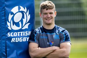 Winger Darcy Graham at Scotland's training camp in Inverness. Picture: Craig Williamson/SNS/SRU
