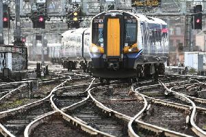Trains coming in and out of Glasgow Central station were disrupted for hours. Picture: John Devlin