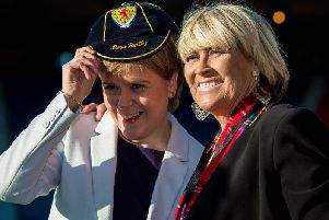 Rose Reilly, right, with Nicola Sturgeon. Picture: SNS