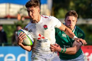 Cameron Redpath in action for England U20 against Ireland U20 at the World U20 Championship in Argentina. Picture: Amilcar Orfali/Getty