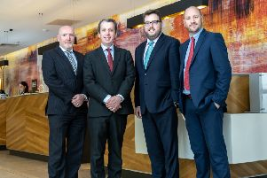 From left: Amaris Hospitality's Barry Patton, Peter Stack, Paul Harnedy and Kris Legg. Picture: Amit Ghelani