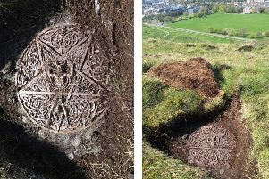 The works involved the removal of two unauthorised concrete installations on Whinny Hill, discovered in May 2018. Picture: HES