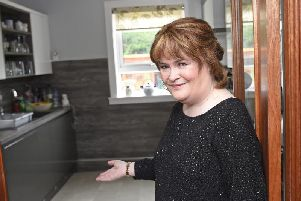 Susan Boyle at home in Blackburn.