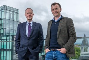Morton Fraser's Austin Flynn (left) and Deloitte's Graeme Carmichael call for business pitches for the Children 1st charity competition. Picture: Rich Dyson