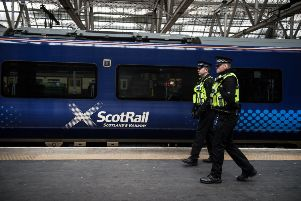More than half of the crimes reported on Scotland's rail network went undetected in 2018. Picture: John Devlin