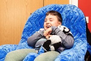 Rocco Wood in his p-pod chair
