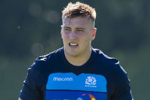 Matt Fagerson at Scotland's World Cup training camp at Oriam. Picture: SNS