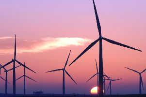 he wind power output hit a record high during the first six months of 2019. (Picture: Ian Rutherford)