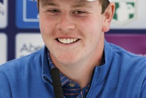 Bob MacIntyre was all smiles at The Renaissance Club today as he spoke about being paired with Rory McIlroy and Rickie Fowler in the Aberdeen Standard Investments Scottish Open. Picture: SNS