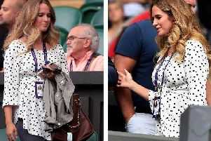 Kim Murray was pictured at Wimbledon cheering on her husband Andy.