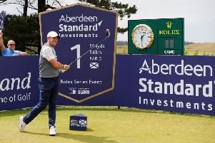 Rory McIlroy tees off at the first during the pro-am before the Aberdeen Standard Investments Scottish Open. Picture: Kevin C Cox/Getty
