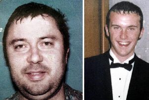William Beggs, left, was found guilty of murdering and dismembering 18-year-old Barry Wallace, right