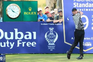 Rory McIlroy tees off on Day 1 of the 2019 Scottish Open (Photo: Getty)