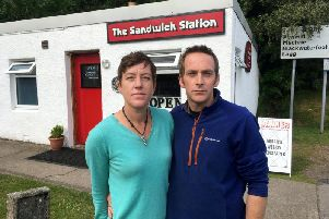 John and Lizanne Malpas, who wed in 2006, have run the popular Sandwich Station at Lochranza on the Isle of Arran since 2017.Picture: SWNS