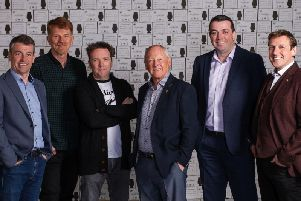 From left: Jason Kennedy, sales director; Gordon Brown, marketing director; Paul Davidson, managing director; Raymond Davidson, founder; James Crilly, purchasing director; Scott Davidson, new product development director. Picture: Contributed