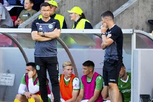 Hibs boss Paul Heckingbottom. Pic: SNS