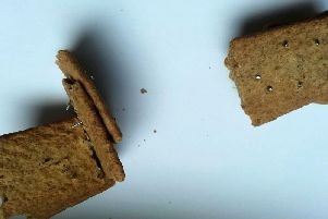 The biscuits have been contaminated with small nails. Picture: SWNS