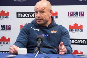 Edinburgh head coach Richard Cockerill.