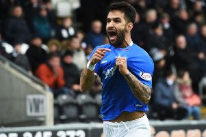 Daniel Candeias is set to leave Rangers. Picture: SNS