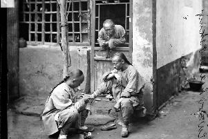 A travelling chiropodist in Beijing, 1871'72. Picture: The Wellcome Library