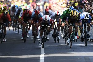 Who could have predicted Caleb Ewan's stage win?  Picture: AFP/Getty Images