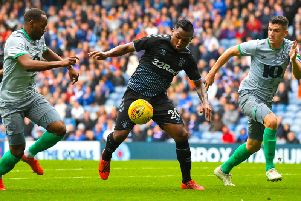 Rangers' clash with Blackburn Rovers was interrupted by porn. Picture: SNS