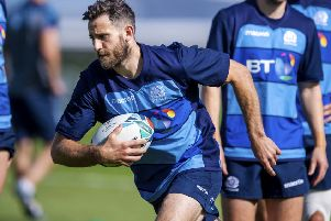 Scotland's Tommy Seymour pictured in training at Oriam