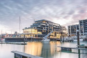 Floor to ceiling windows make for amazing seaviews at The Harbour Hotel, Southampton