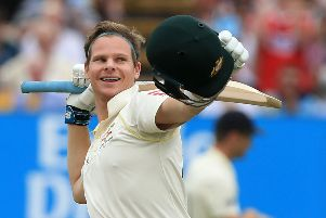 England had no answer to Steve Smith as the Australian batsman racked up another century. Picture: AFP/Getty Images