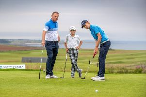Stuart Graham, with sons Gregor, 15, and Connor, 12, helped create a family atmosphere at the Scottish Amateur.