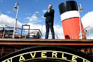 The Waverley paddle steamer is undergoing restoration in Glasgow