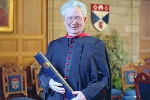 Bob Smart at his honorary graduation in January 1996 (Picture: Courtesy of St Andrews University Library)