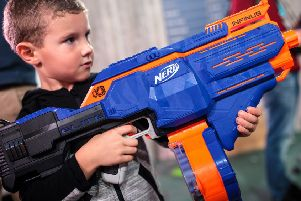 Hayley's Nerf Gun Party went down a treat with the birthday boy and his friends. Picture: Getty