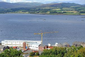 The Ferguson shipyard at Port Glasgow, which employs 350 people, could be nationalised. PIC: John Devlin/TSPL.