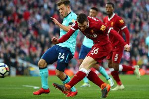 Andy Robertson and Ryan Fraser came head to head in the Premier League last season.