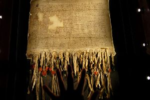 DNA testing will be used to trace the descendants of the signatories of the Declaration of Arbroath almost 700 years since the document asserted Scotland's sovereignty. PIC: TSPL.