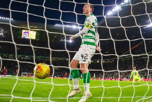 Callum McGregor fumes as Celtic conceded. Picture: SNS