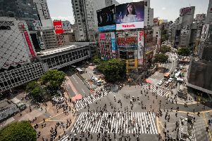 The view over Shibuya Crossing, the world's busiest, Picture: Colin Heggie