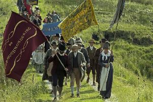 A scene from Mike Leigh's film Peterloo about the infamous massacre of pro-democracy campaigners (Picture: Simon Mein/Amazon Studios)