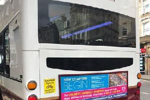 The bus adverts were designed to make sure parents did not take their youngsters to the wrong place