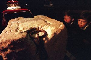 The Stone of Destiny was moved to Edinburgh Castle from Westminster Abbey in 1996. Picture: TSPL