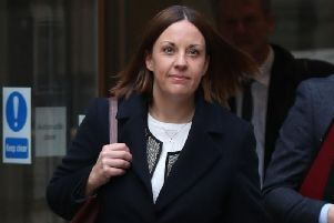 Former Scottish Labour leader Kezia Dugdale leaving Edinburgh Sheriff Court earlier this year where she is faced a defamation action brought by pro-independence blogger Stuart Campbell.