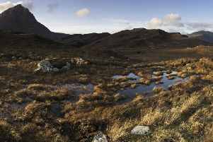 Dramatic mountains pictured here on Sutherland. A consultation has been launched into introducing a tourist tax in the Highlands