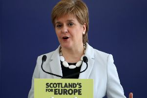 Nicola Sturgeon said the SNP would explore all options to prevent a no deal Brexit