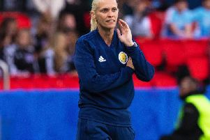 Shelley Kerr looks on during the Argentina match