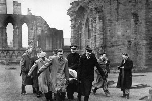 The Stone of Destiny was recovered from Arbroath Abbey in 1951 after being taken from Westminster Abbey by nationalist students.